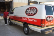 Couriers of H&B Disher Courier - ready for a rush delivery in the Greater Toronto Area