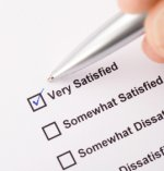 Score sheet for rating satisfaction.